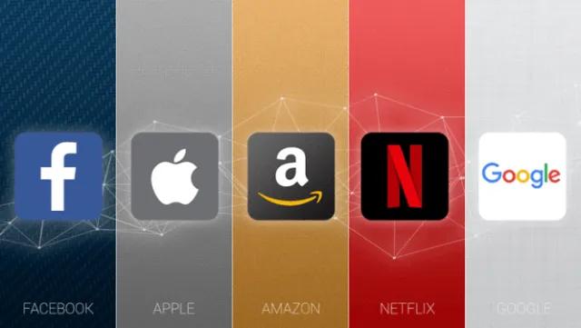 facebook - apple - amazon - google -netflix loghi