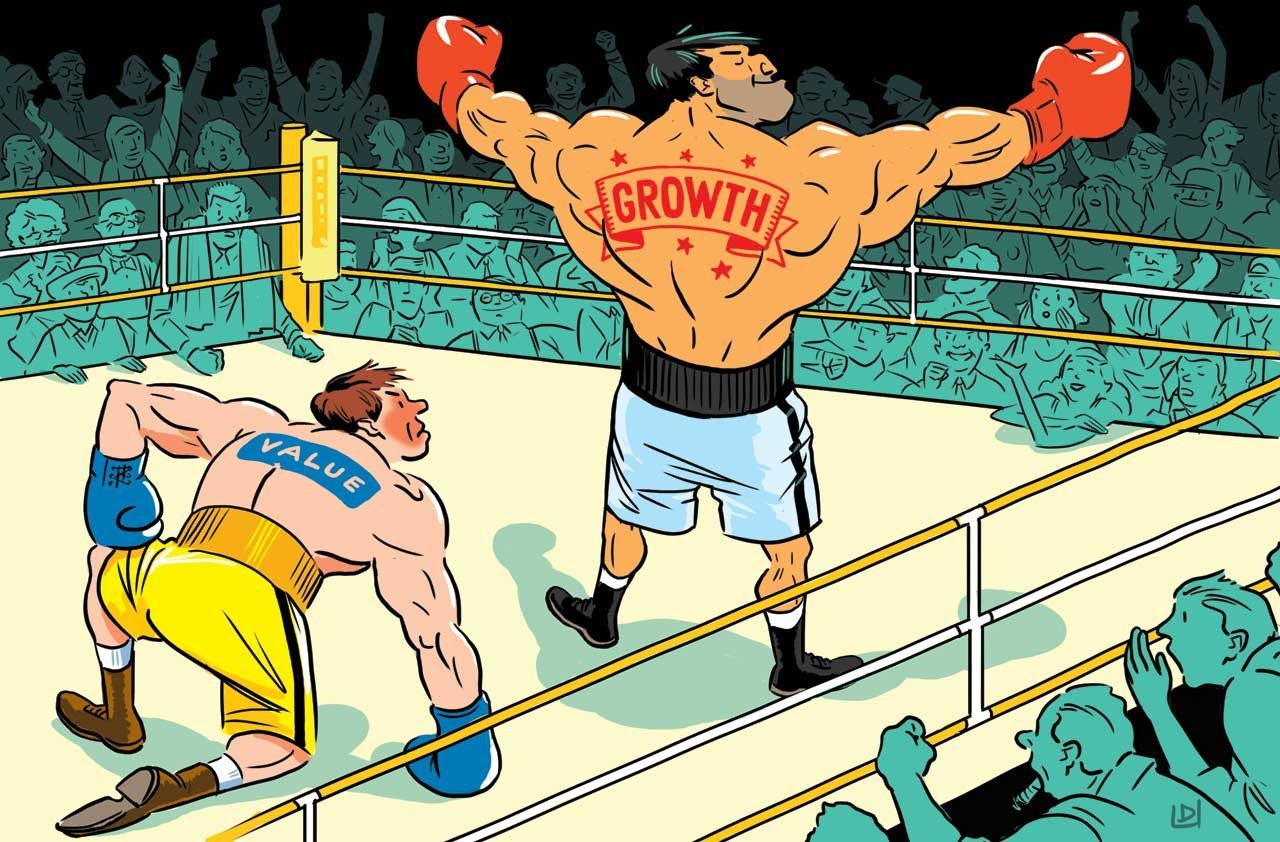 value v.s growth - scontro di boxe sul ring