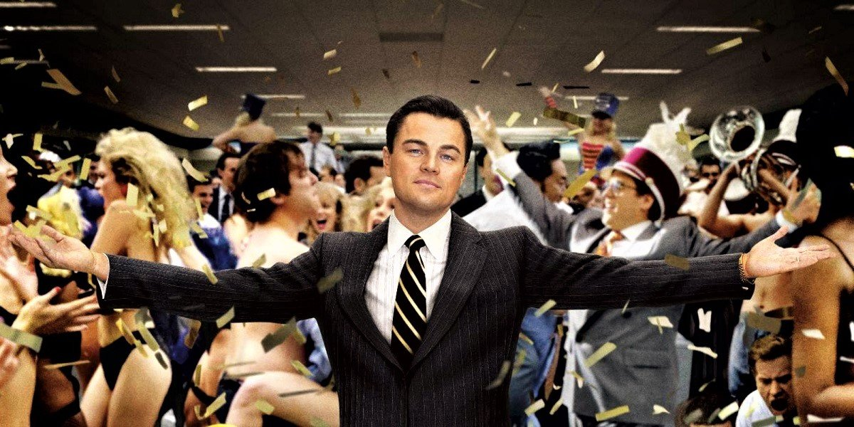 Di Caprio in the wolf of wall street